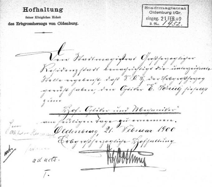 Hofhaltung 1900