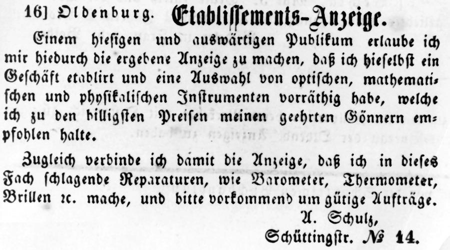 Eröffnung Optiker Schulz