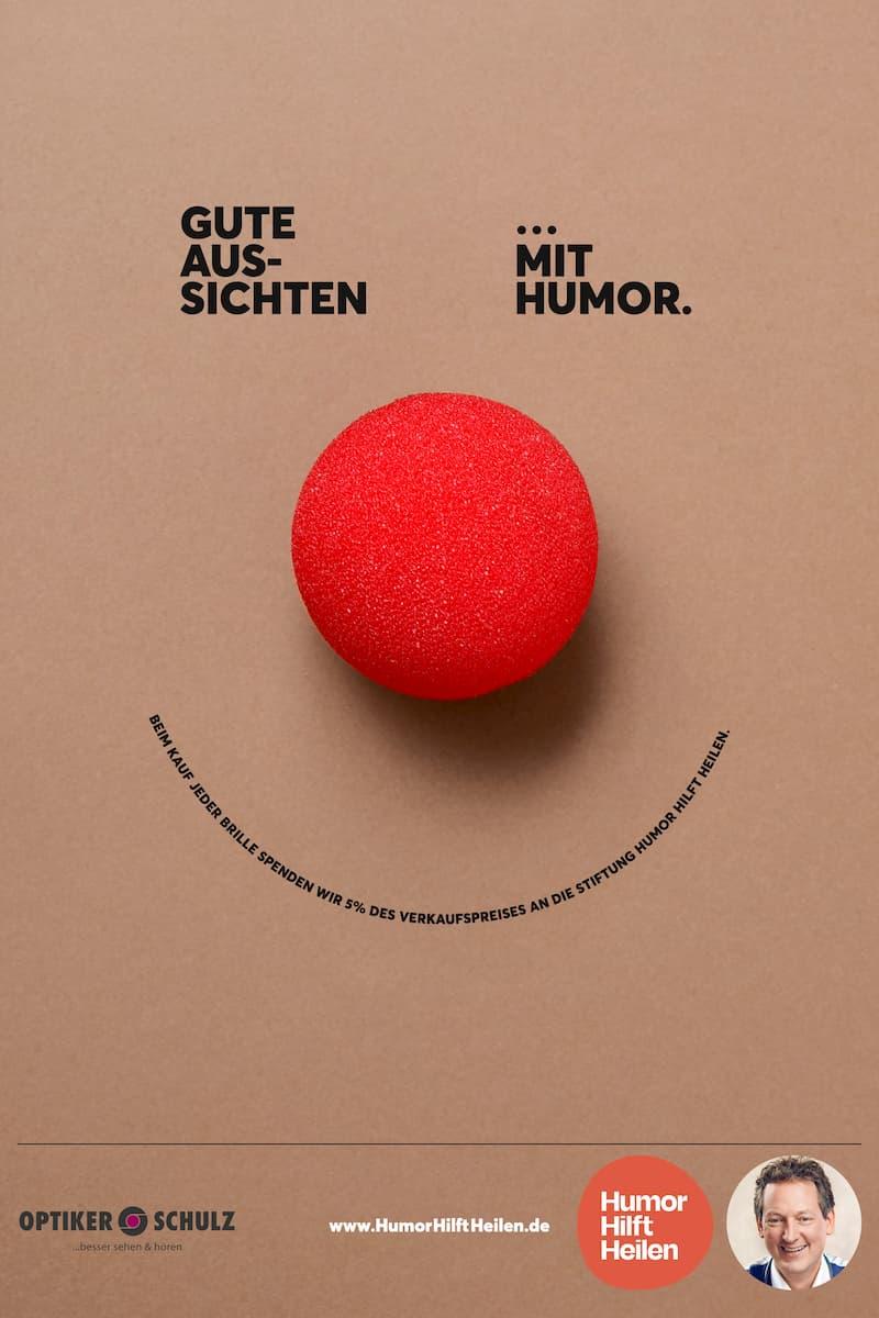 Optiker Schulz unterstützt Humor Hilft Heilen